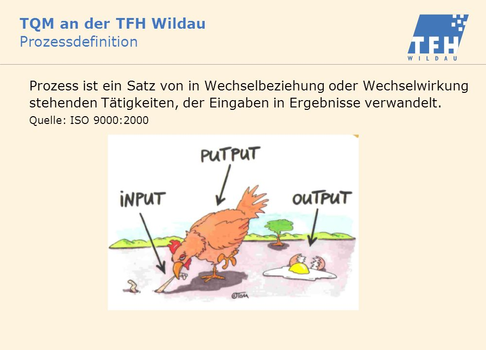 TQM an der TFH Wildau Prozessdefinition