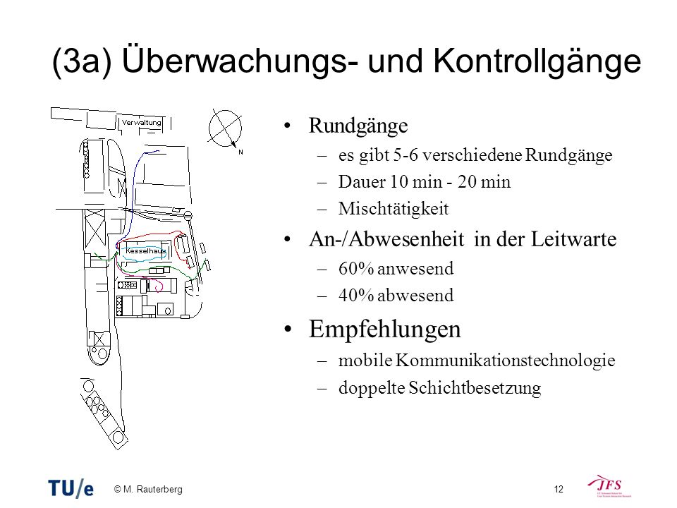(3a) Überwachungs- und Kontrollgänge