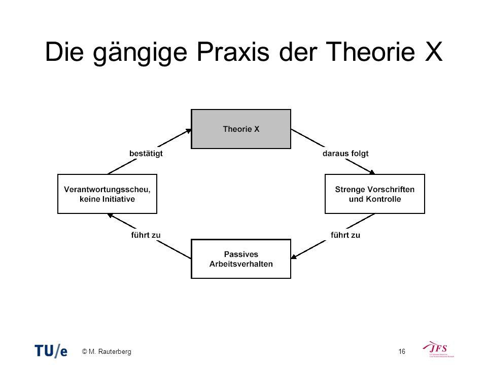 Die gängige Praxis der Theorie X