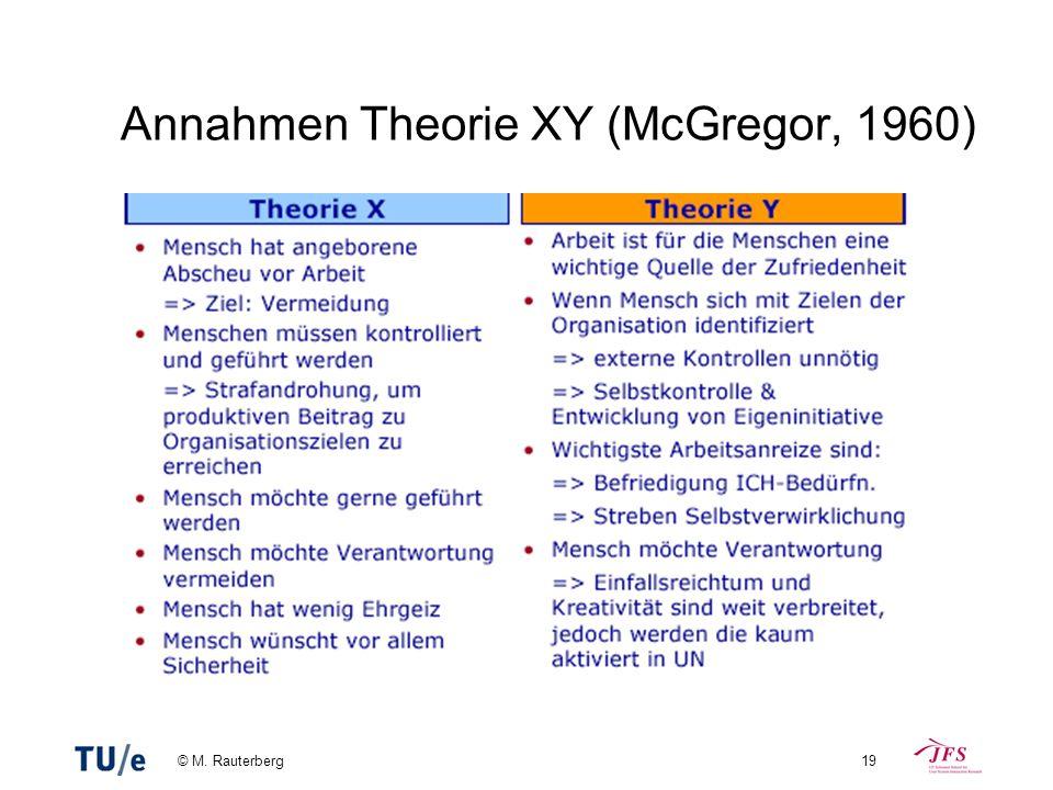 Annahmen Theorie XY (McGregor, 1960)