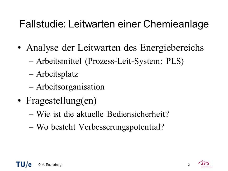 Fallstudie: Leitwarten einer Chemieanlage
