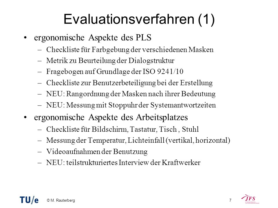 Evaluationsverfahren (1)