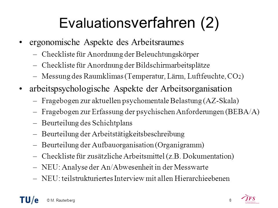 Evaluationsverfahren (2)