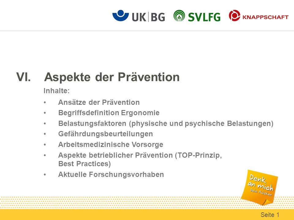 VI. Aspekte der Prävention