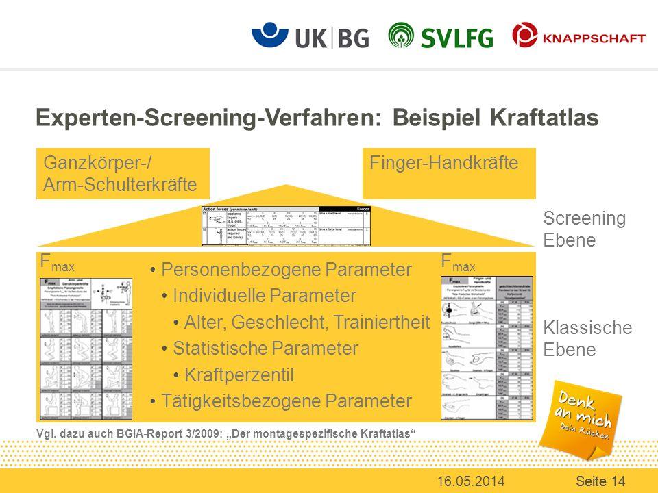 Experten-Screening-Verfahren: Beispiel Kraftatlas