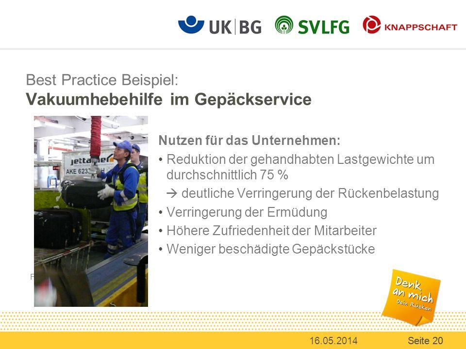 Best Practice Beispiel: Vakuumhebehilfe im Gepäckservice