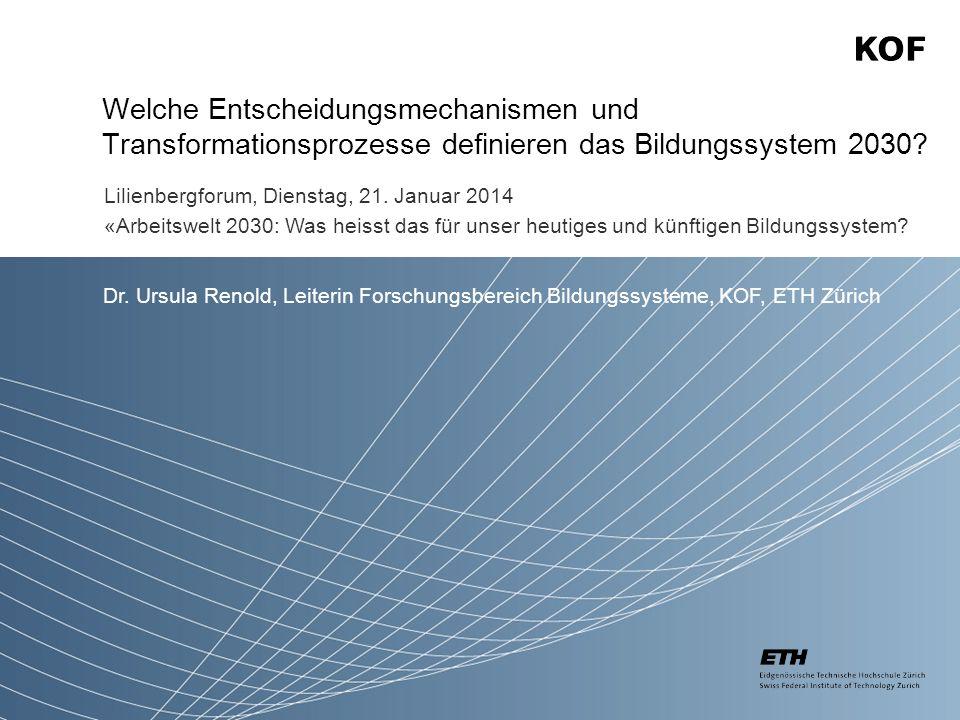 Welche Entscheidungsmechanismen und Transformationsprozesse definieren das Bildungssystem 2030