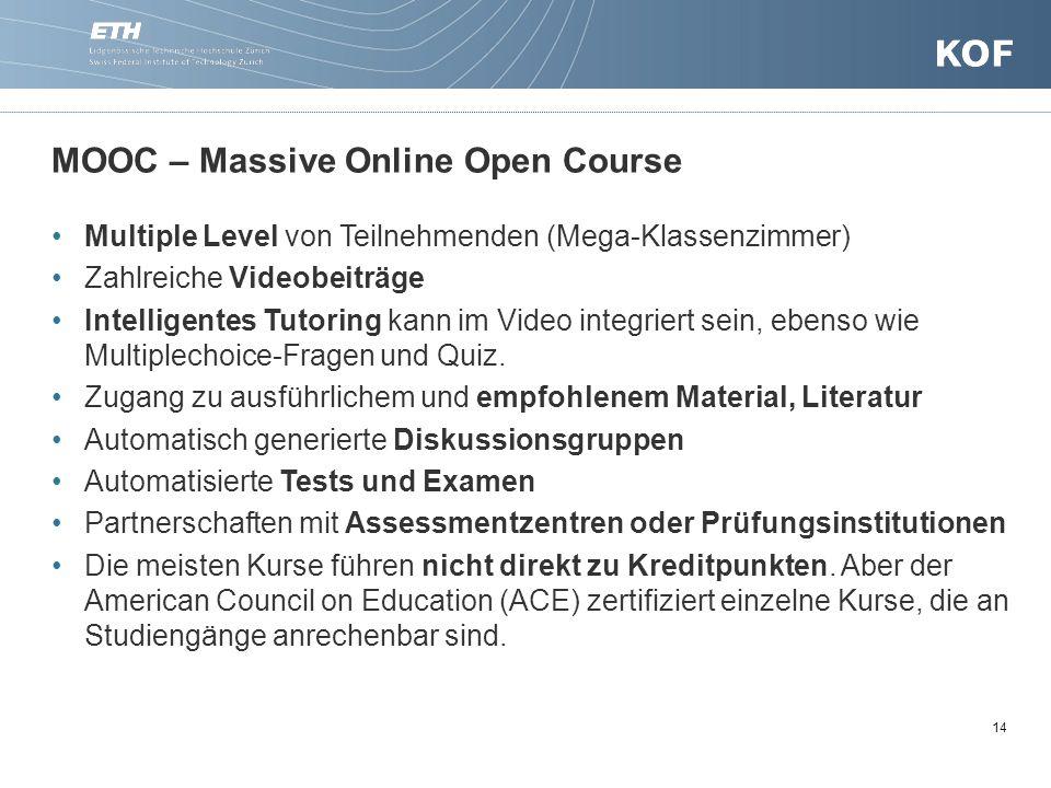 MOOC – Massive Online Open Course