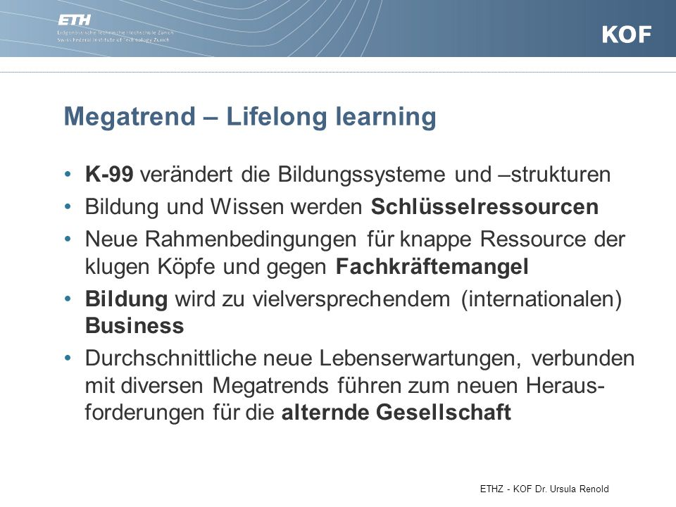 Megatrend – Lifelong learning