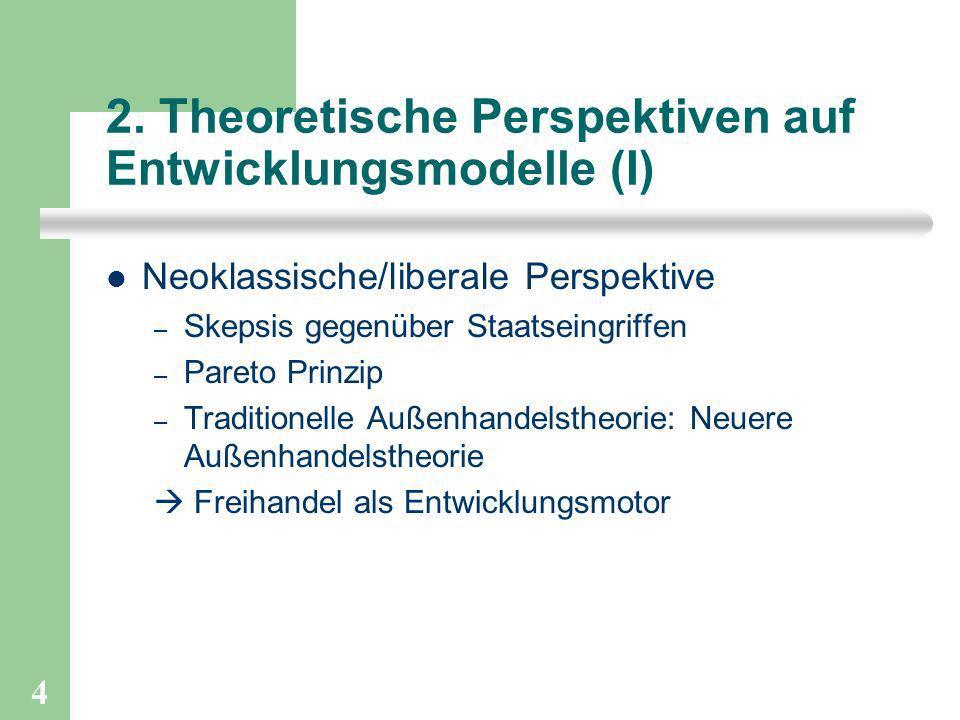 2. Theoretische Perspektiven auf Entwicklungsmodelle (I)