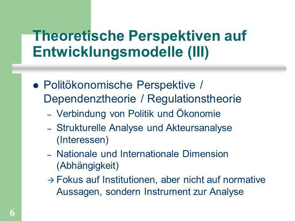 Theoretische Perspektiven auf Entwicklungsmodelle (III)