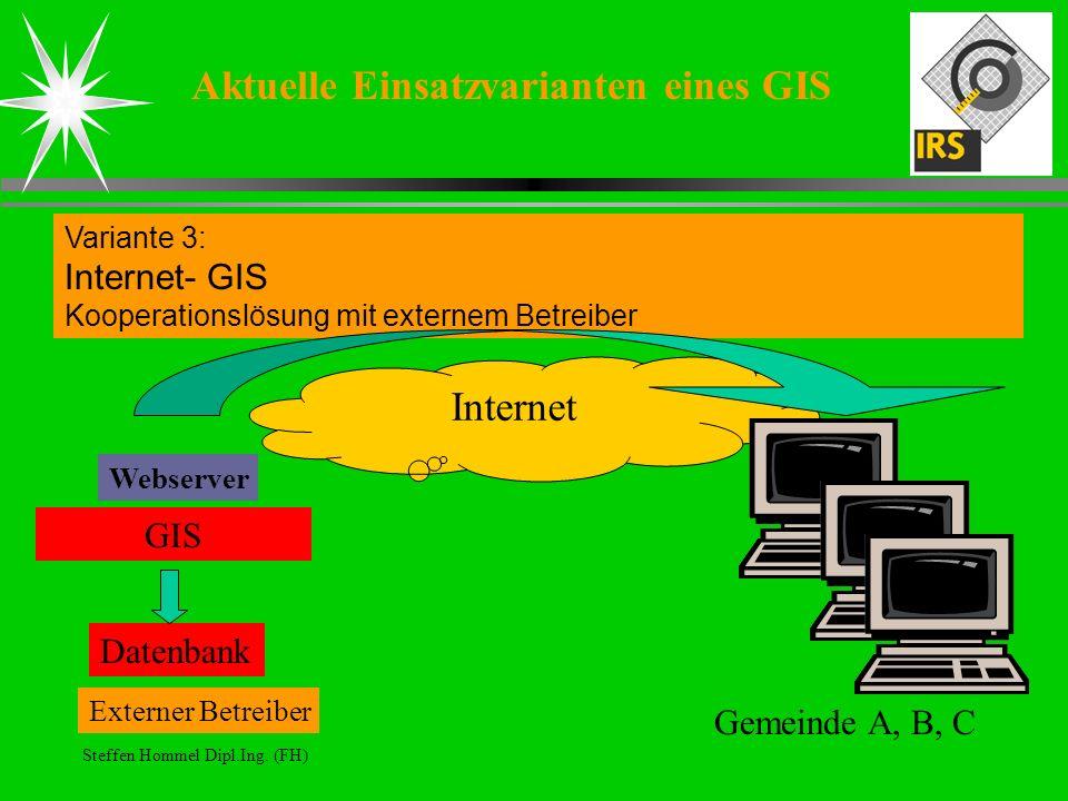 Aktuelle Einsatzvarianten eines GIS