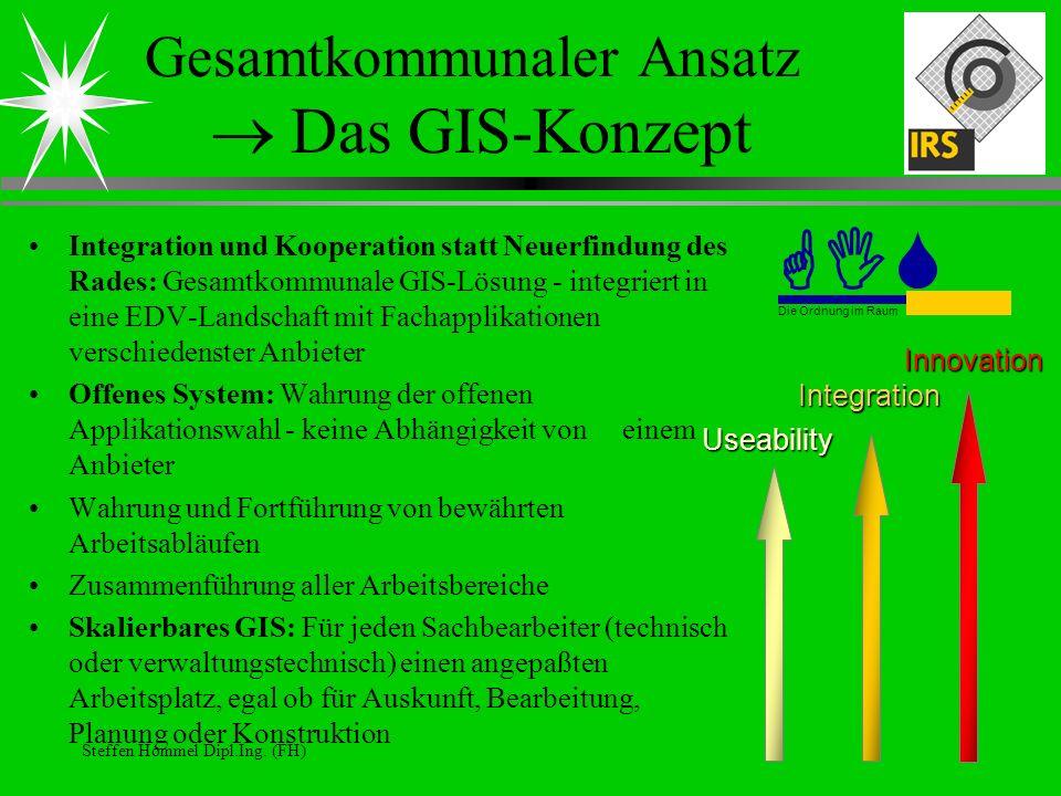 Gesamtkommunaler Ansatz  Das GIS-Konzept