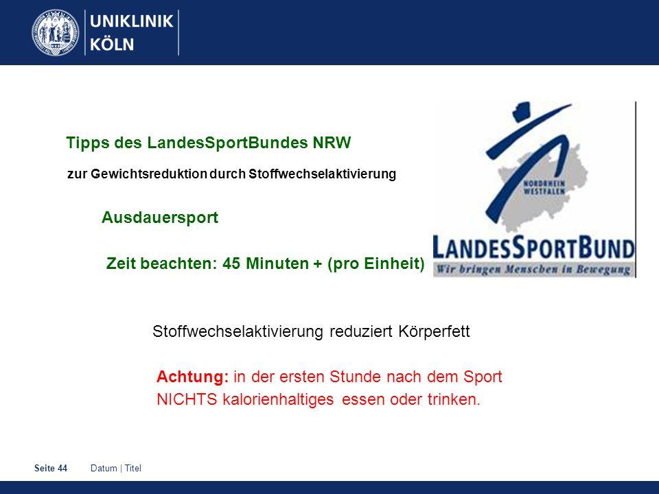 Tipps des LandesSportBundes NRW