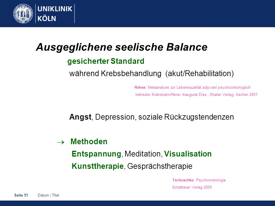 Ausgeglichene seelische Balance