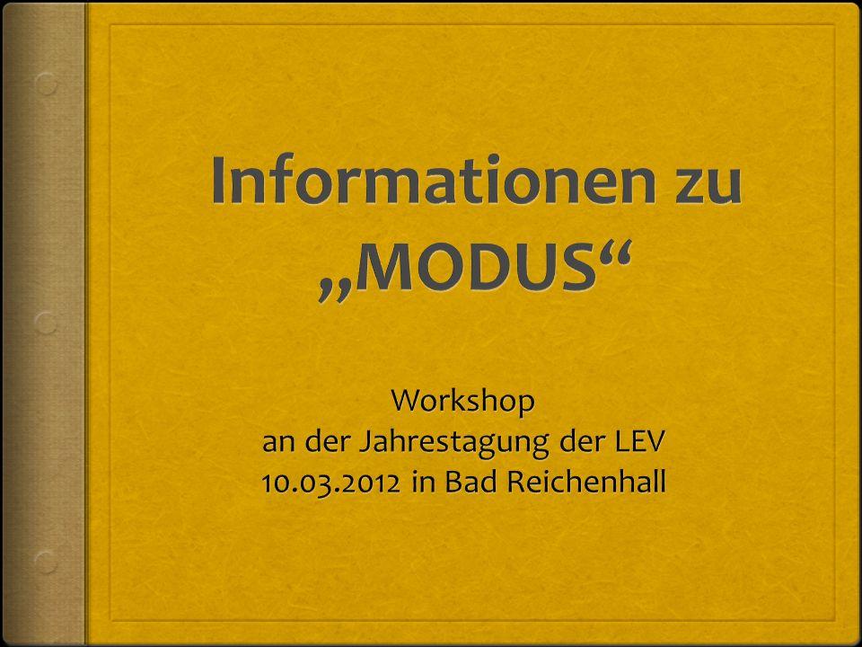 """Informationen zu """"MODUS"""
