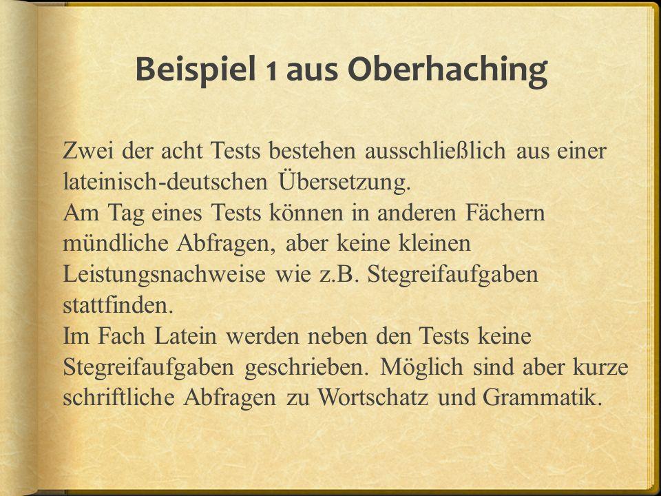 Beispiel 1 aus Oberhaching