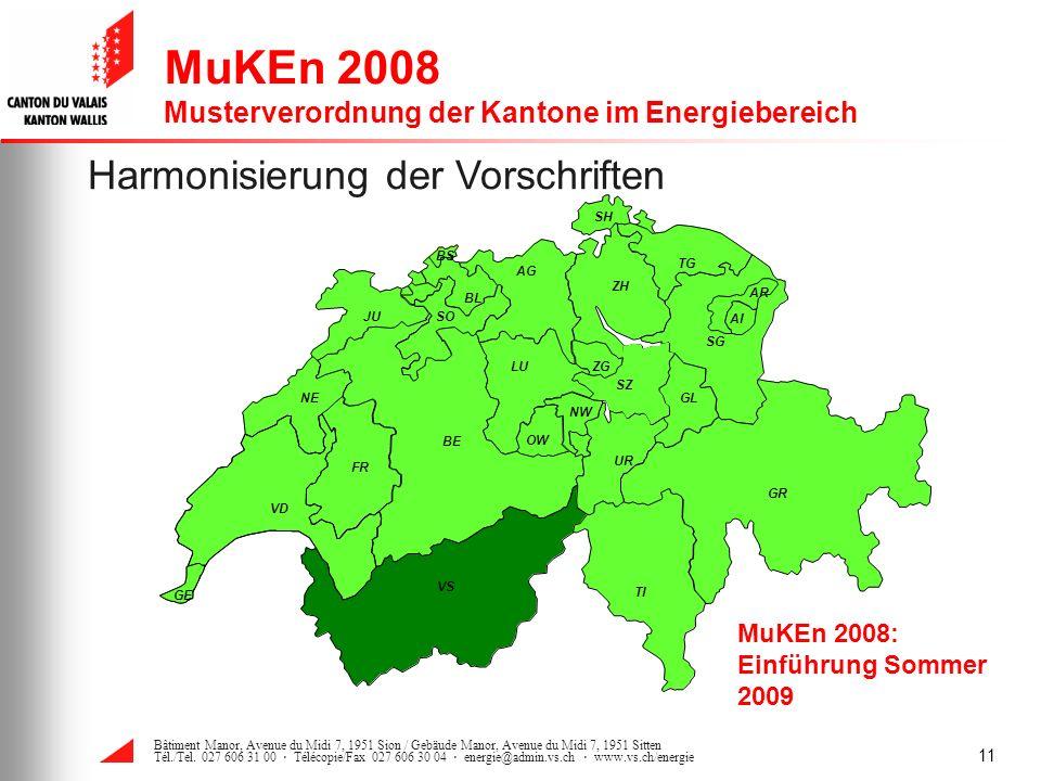 MuKEn 2008 Musterverordnung der Kantone im Energiebereich
