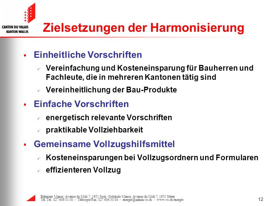 Zielsetzungen der Harmonisierung