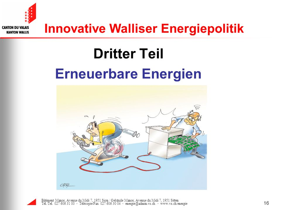 Innovative Walliser Energiepolitik