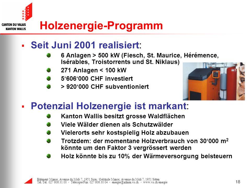 Holzenergie-Programm
