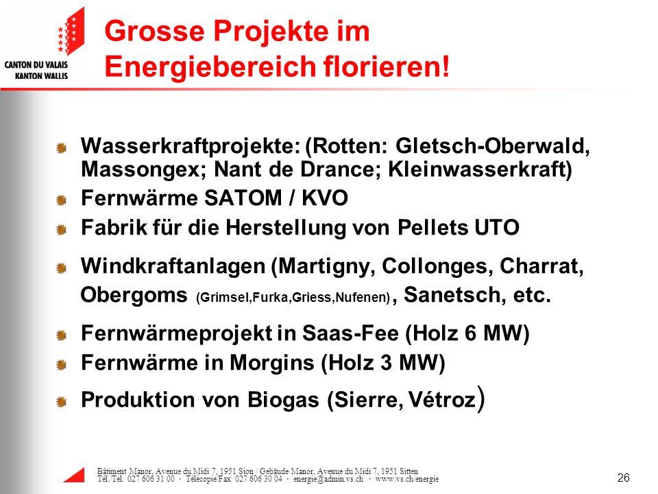 Grosse Projekte im Energiebereich florieren!
