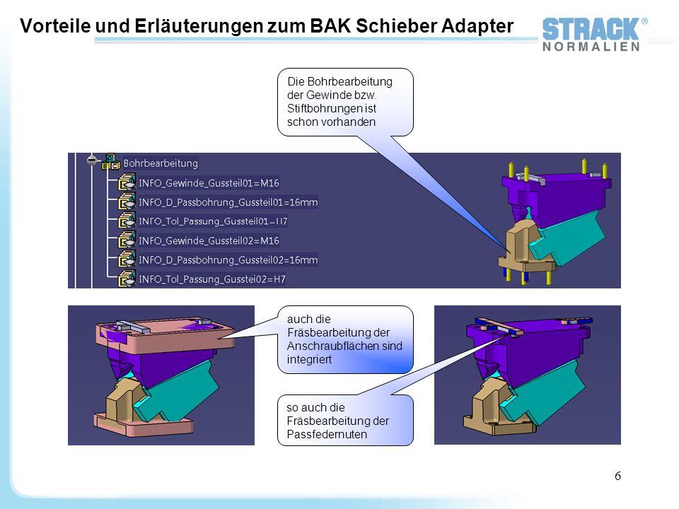 Vorteile und Erläuterungen zum BAK Schieber Adapter