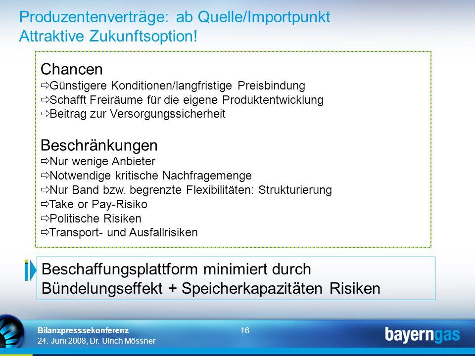 Produzentenverträge: ab Quelle/Importpunkt Attraktive Zukunftsoption!