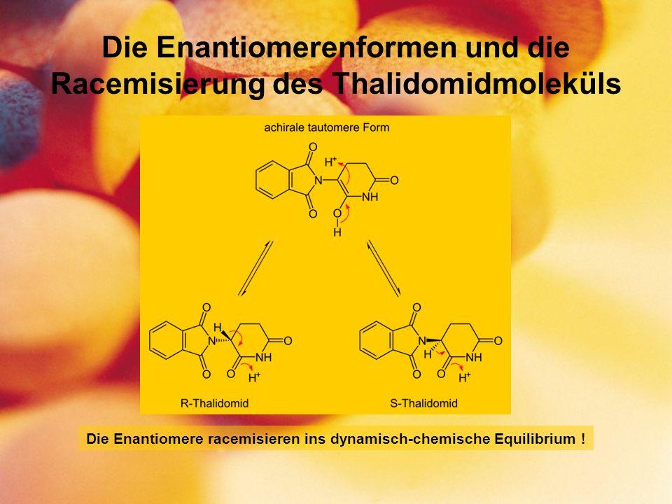 Die Enantiomerenformen und die Racemisierung des Thalidomidmoleküls