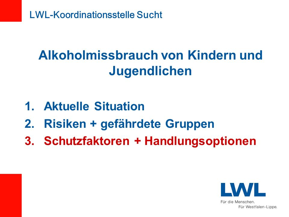 Alkoholmissbrauch von Kindern und Jugendlichen