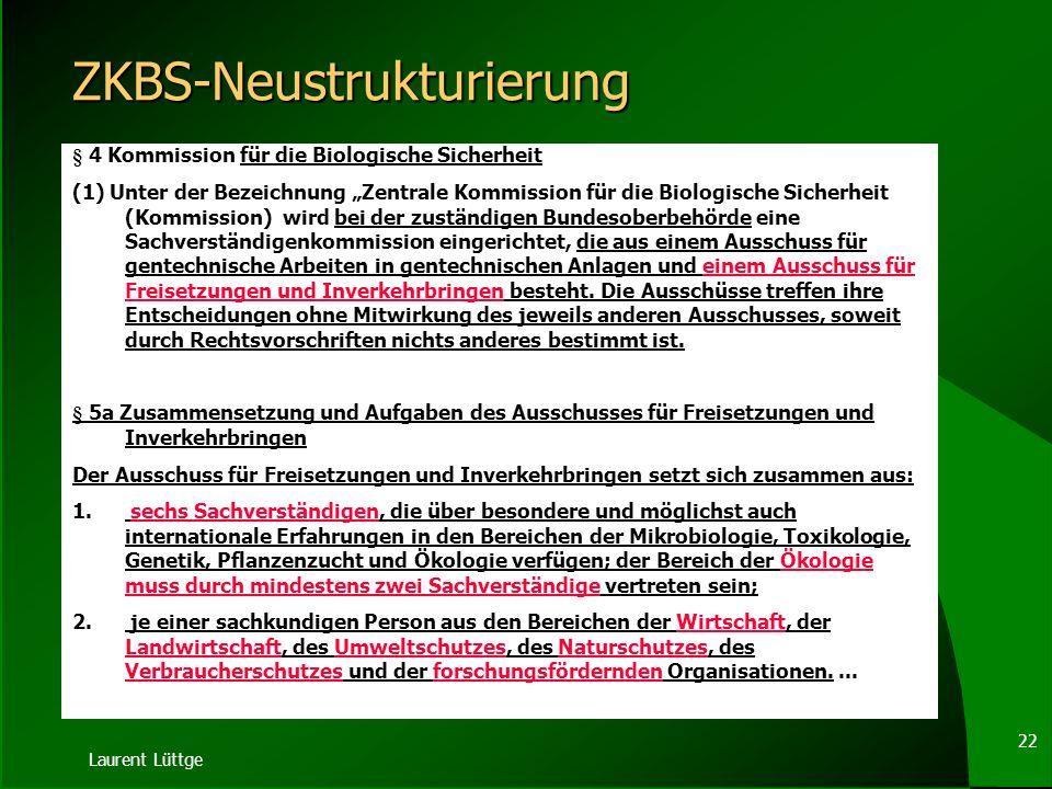 ZKBS-Neustrukturierung
