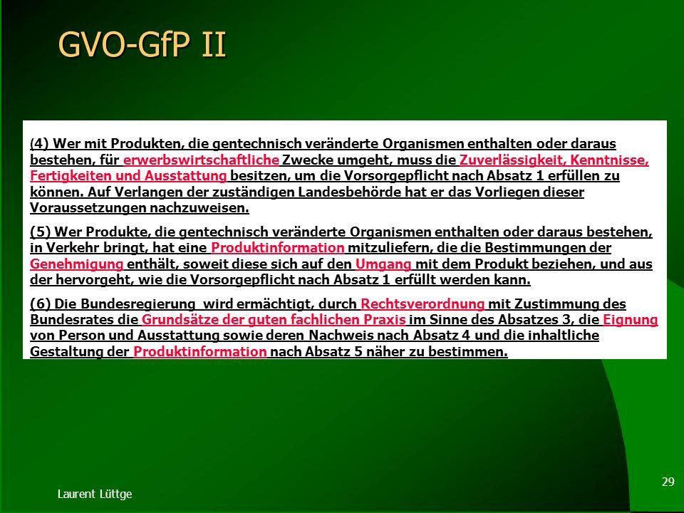 GVO-GfP II