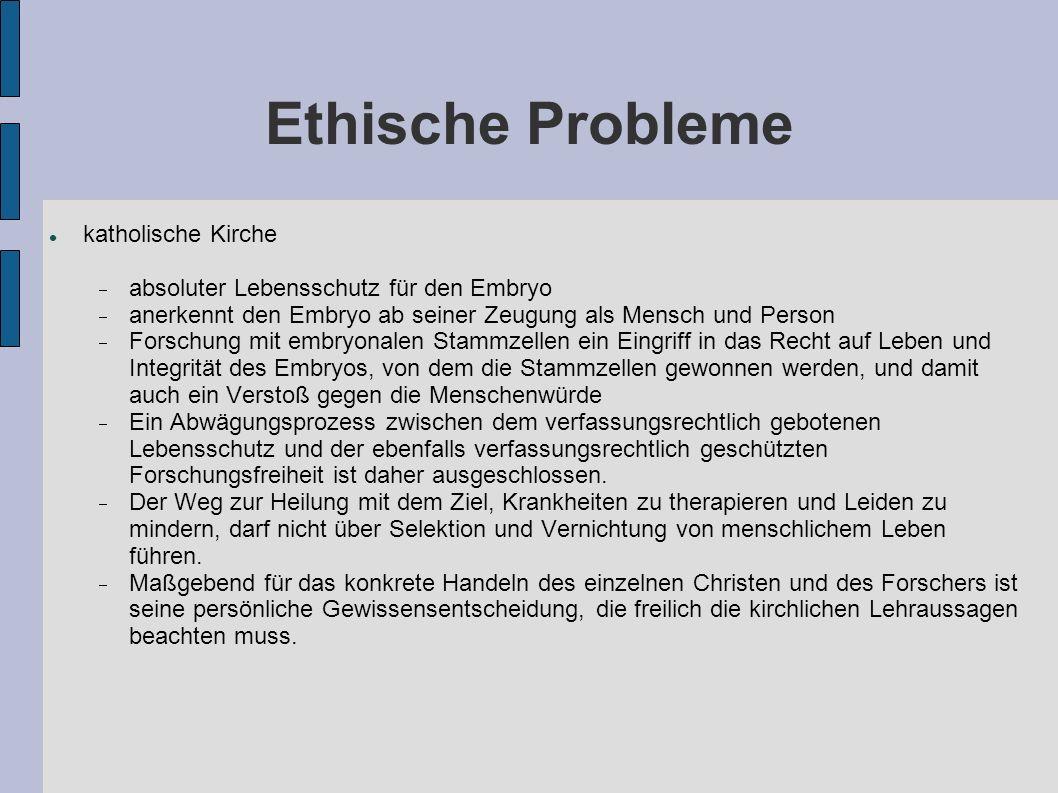 Ethische Probleme katholische Kirche