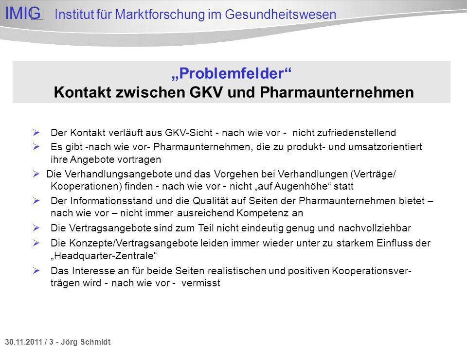 """""""Problemfelder Kontakt zwischen GKV und Pharmaunternehmen"""