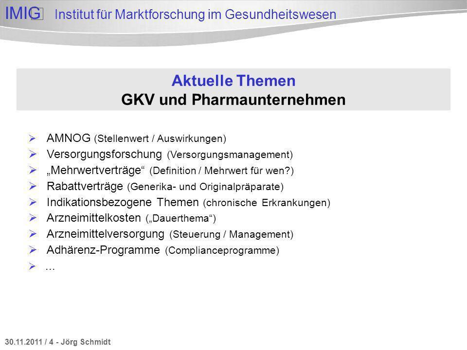 Aktuelle Themen GKV und Pharmaunternehmen