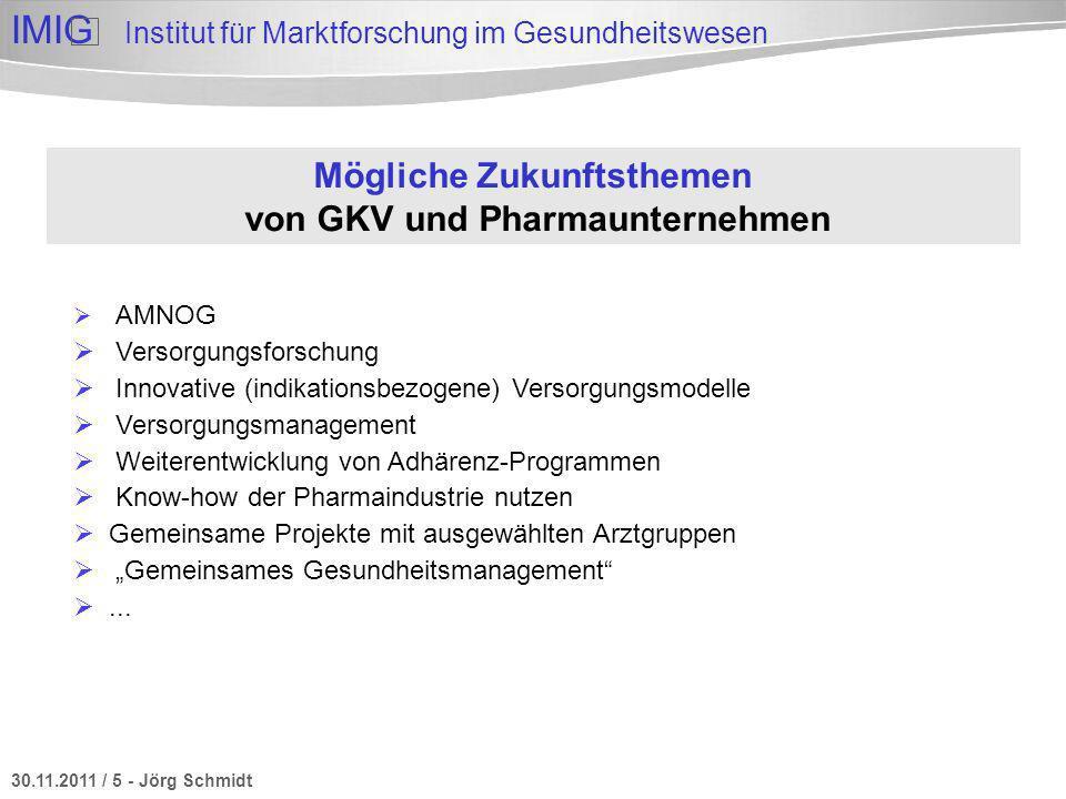 Mögliche Zukunftsthemen von GKV und Pharmaunternehmen