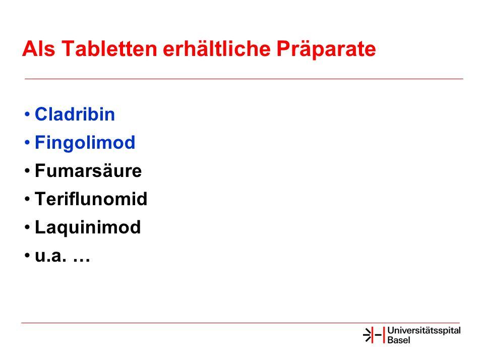 Als Tabletten erhältliche Präparate