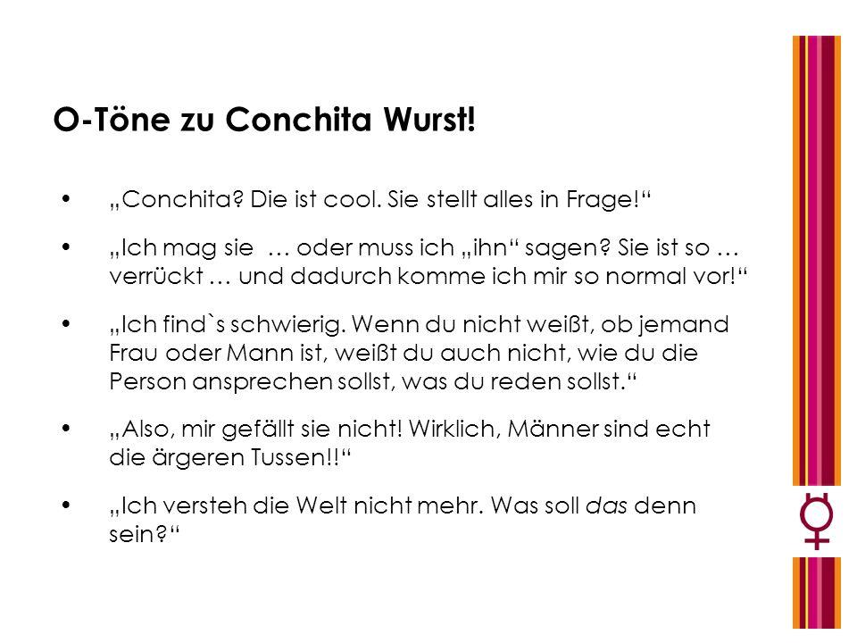 O-Töne zu Conchita Wurst!