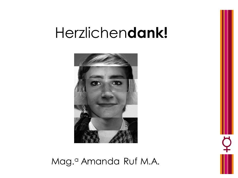 Herzlichendank! Mag.a Amanda Ruf M.A.