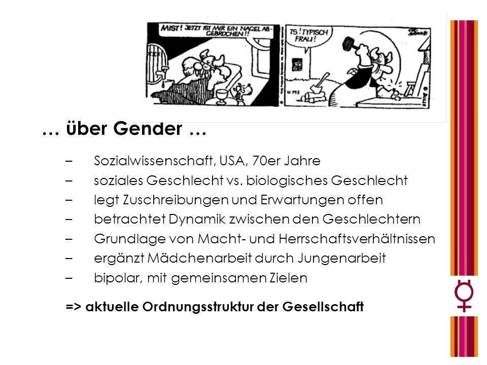 … über Gender … Sozialwissenschaft, USA, 70er Jahre