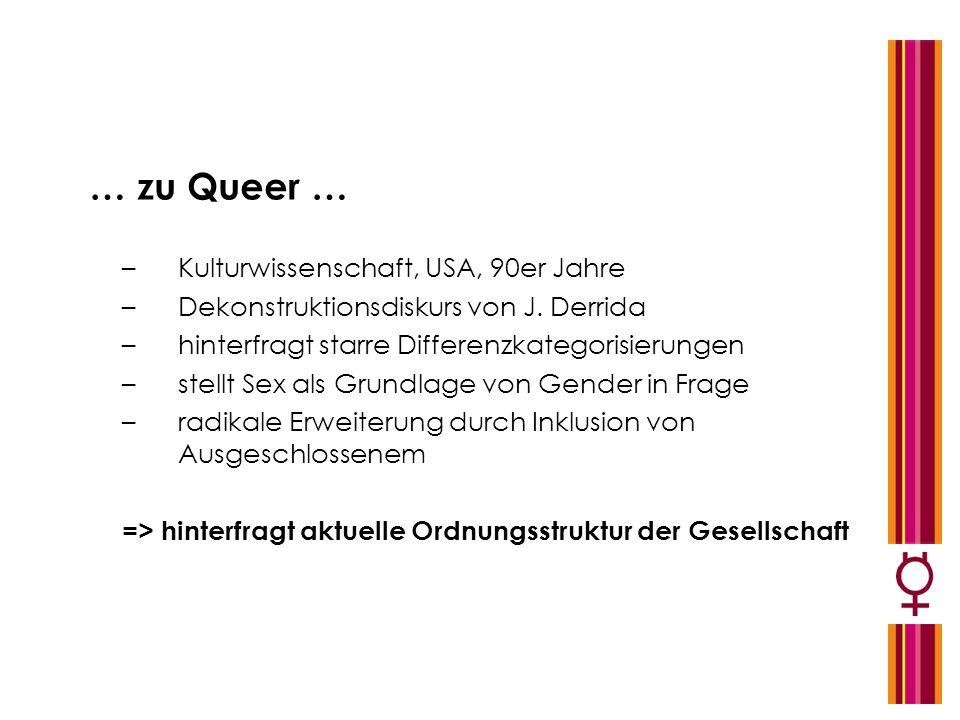 … zu Queer … Kulturwissenschaft, USA, 90er Jahre