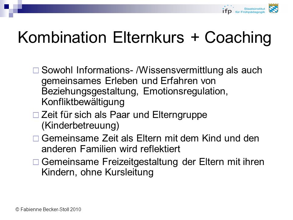 Kombination Elternkurs + Coaching