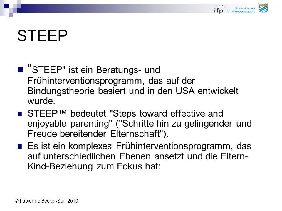 STEEP STEEP ist ein Beratungs- und Frühinterventionsprogramm, das auf der Bindungstheorie basiert und in den USA entwickelt wurde.