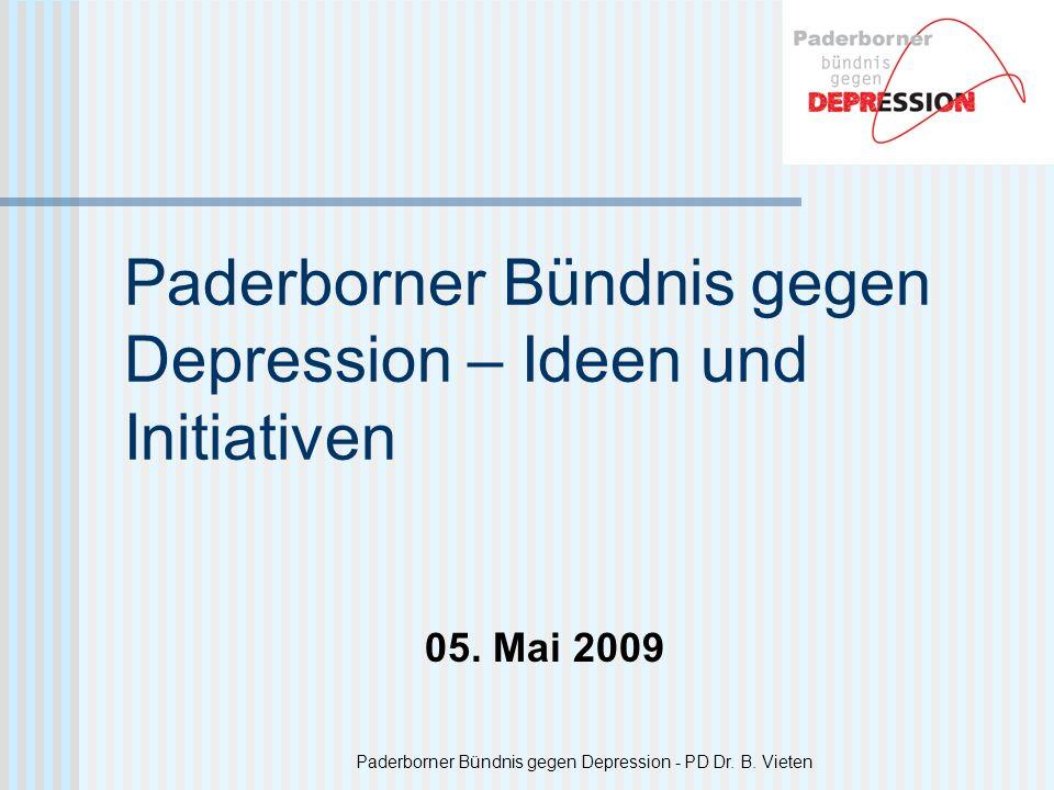 Paderborner Bündnis gegen Depression – Ideen und Initiativen