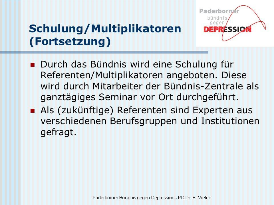 Schulung/Multiplikatoren (Fortsetzung)