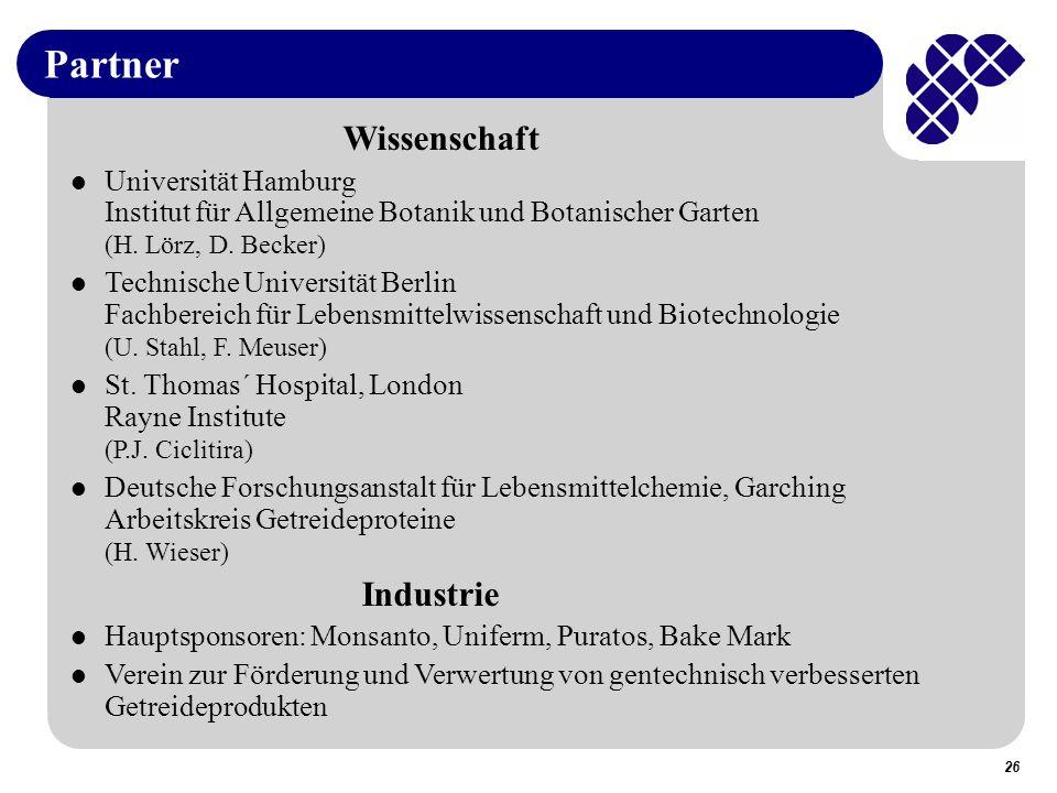Partner Wissenschaft Industrie