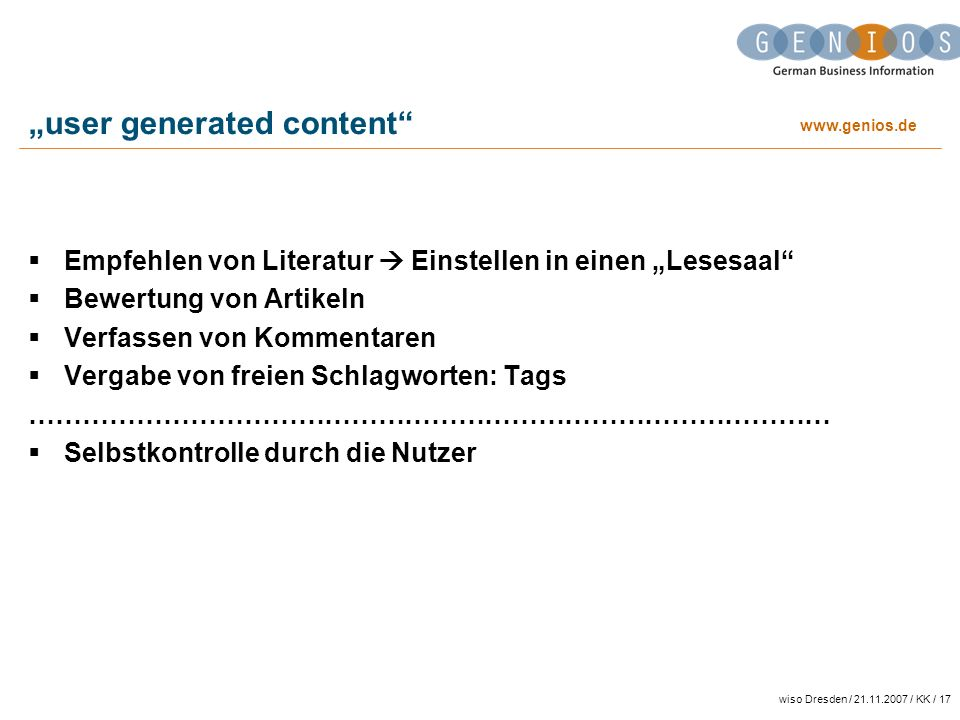 """user generated content"
