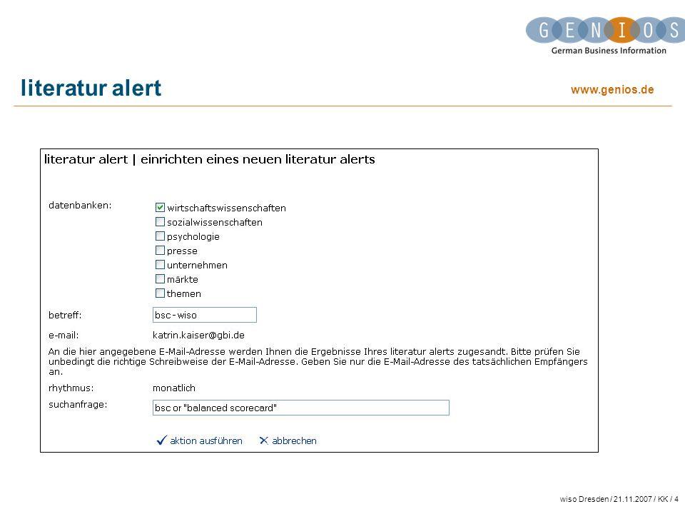 literatur alert wiso Dresden / 21.11.2007 / KK / 4