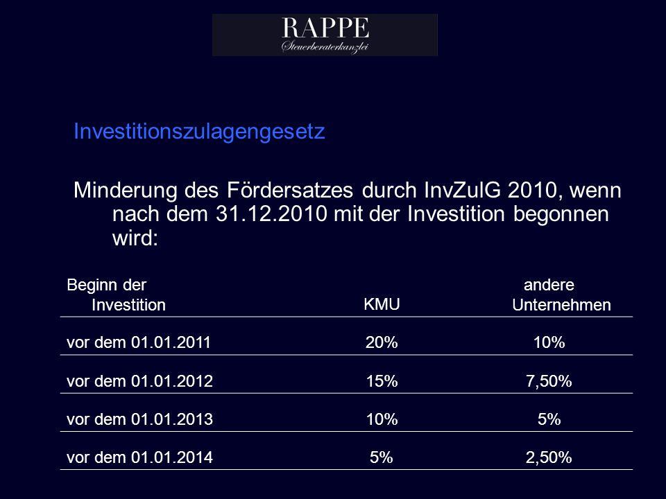 Investitionszulagengesetz