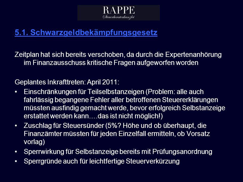 5.1. Schwarzgeldbekämpfungsgesetz